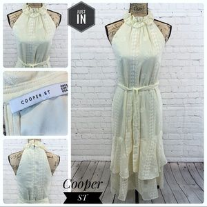 NWOT Cooper ST Boho Cream Maxi Dress Size 4